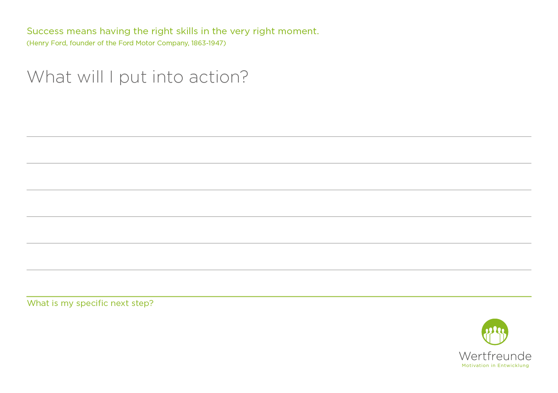 Wertfreunde Action cards